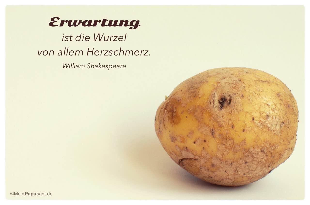 Kartoffelgesicht Mit Dem William Shakespeare Zitat Erwartung Ist Wurzel Von Allem Herzschmerz William