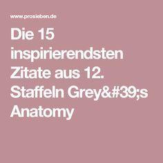 Inspirierendsten Zitate Aus  Staffeln Greys Anatomy
