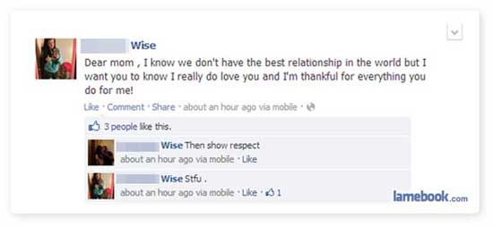 Funny Facebook Family Updates