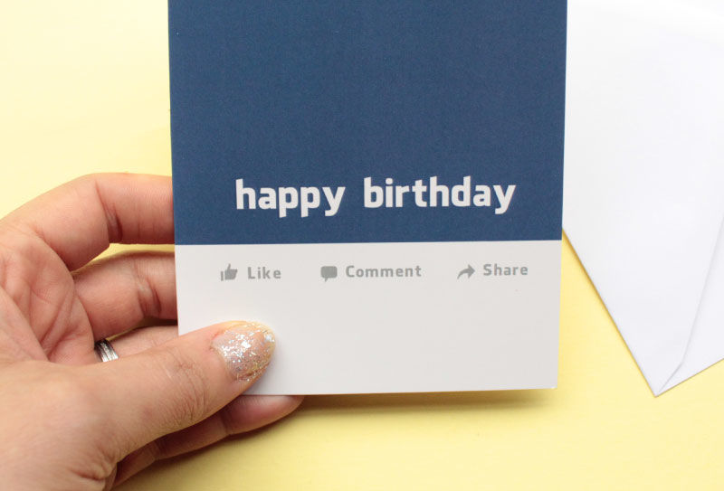 Facebook Birthday Card Product Image