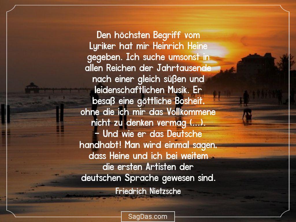 Friedrich Nietzsche Zitat Den Hochsten Begriff Vom