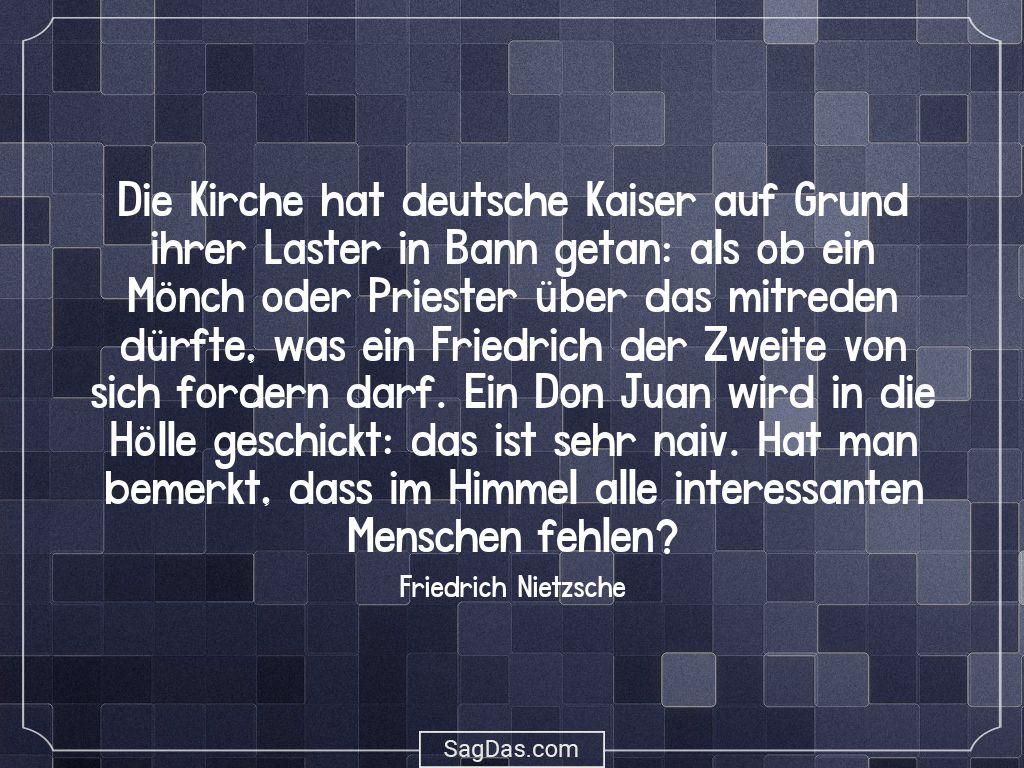 Friedrich Nietzsche Zitat Kirche Hat Deutsche
