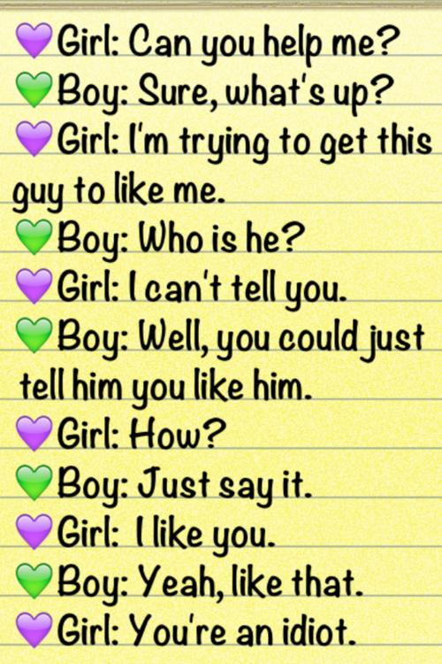 Funny Dialogue Sayings Girl Boy Unrequited Love Inspirational
