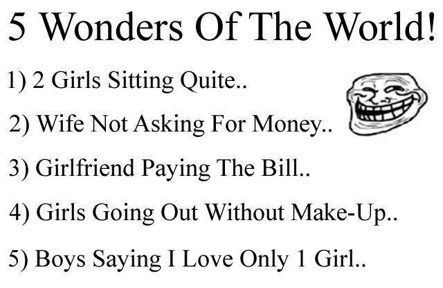 This Entry Was Posted In Jokes And Tagged Bill Funny Girl Love Money Wife Wonder On September   By Tayyeb S