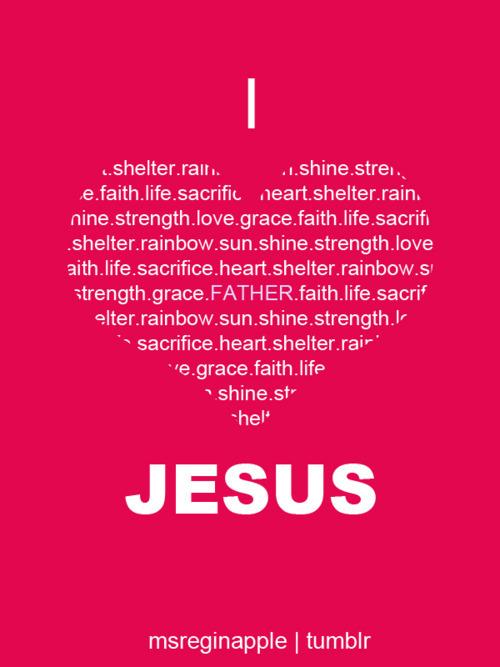 Heart Jesus Love Pink Quote