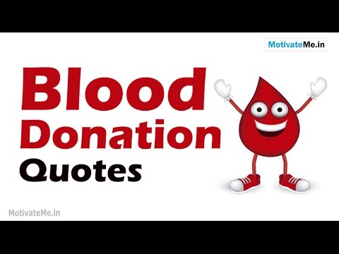 Inspiring Quotes On Blood Donation