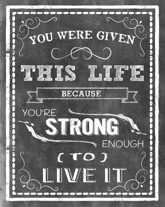 Items Similar To Cancer Awareness Printsin Cancer Quotes Fight For A Cure Chalkboard Art Chemo Help Support You Were Given This Life On Etsy