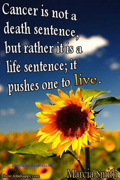 Cancer Is Not A Sentence It Is Indeed A Life