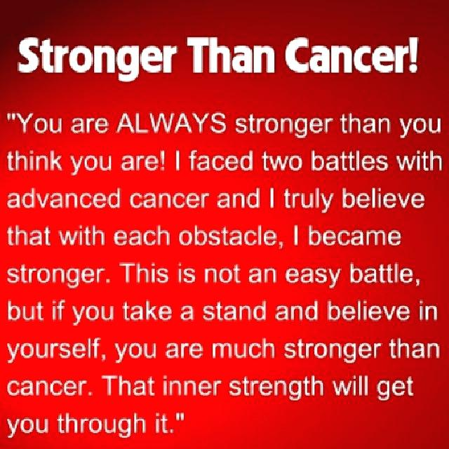 Inspiring Cancer Quotes Plus A Cancer Quote On Being Stronger Than Cancer By A Two Time Cancer Survivor  Also Cancer Death Quotes Pictures