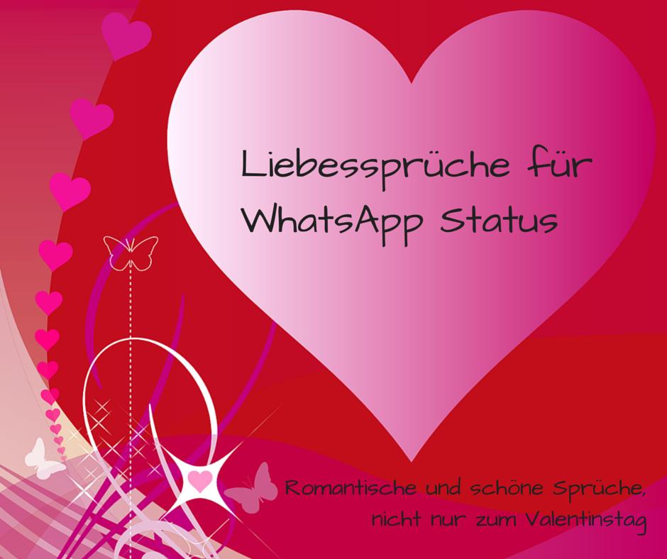 Liebesspruche Fur Whatsapp Status Romantisch Und Schon Nicht Nur Zum Valentinstag