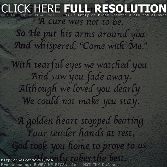 Losing A Loved One To Cancer Quotes Custom Quotes About Losing A Loved One To Cancer