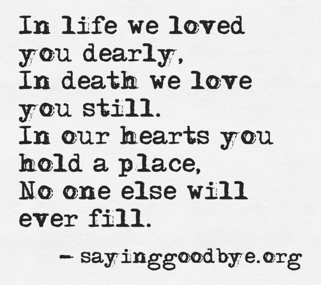 Losing Someone You Love Quote