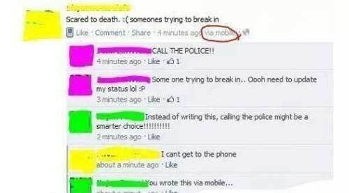 Lying On Facebook Trying Break In