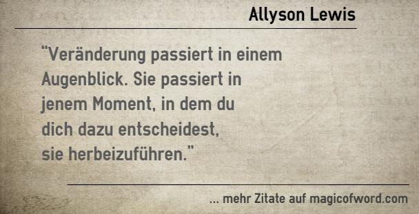 Zitat Von Allyson Lewis