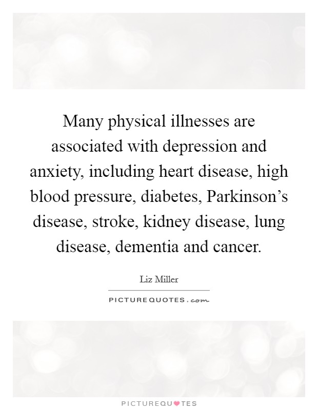 Including Heart Disease High Blood Pressure Diabetes Parkinsons Disease Stroke Kidney Disease Lung Disease Dementia And Cancer