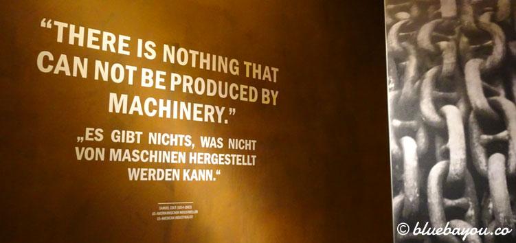 Zitat Im Ausstellungsbereich Zu Maschinen Vor Dem Panorama Deranic Im Panometer Leipzig