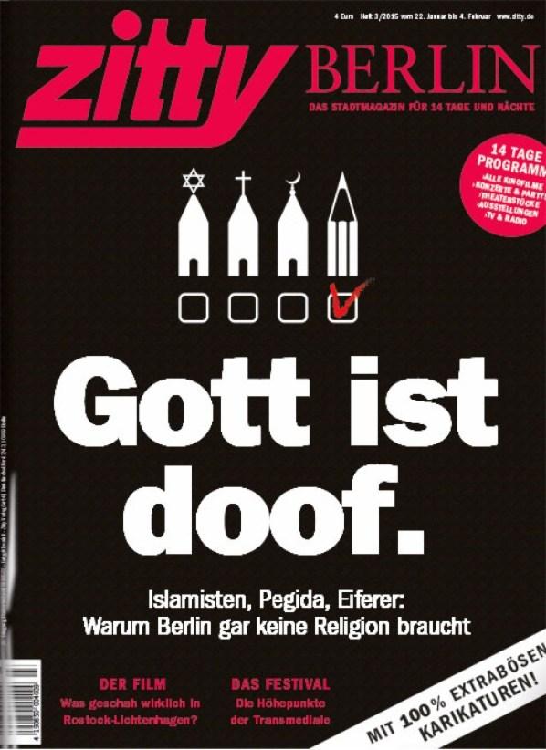 Berliner Stadtmagazin Titelt Gott Ist Doof