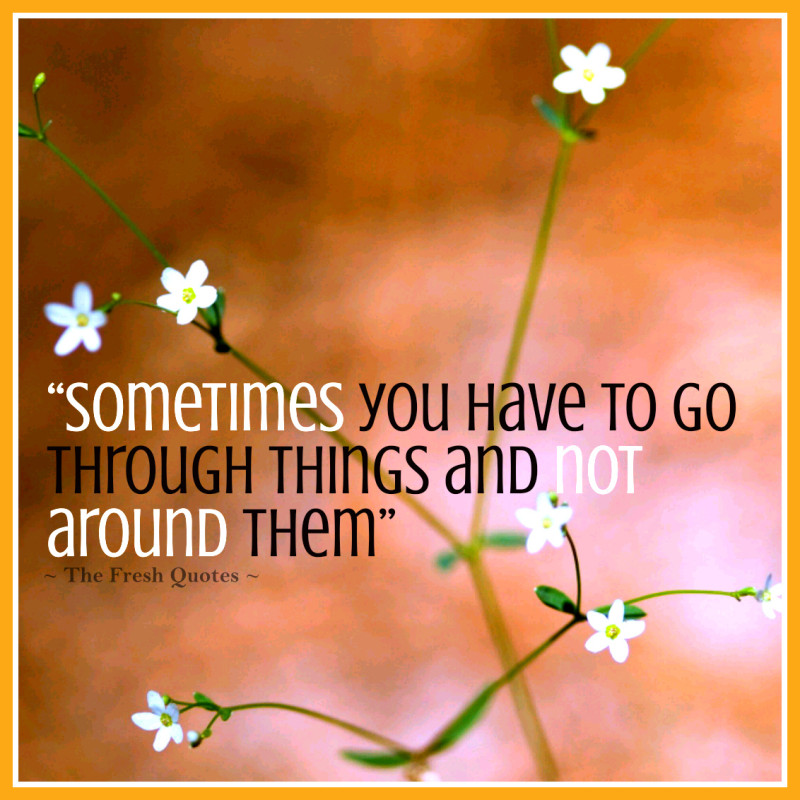 Quotes For Cancer Patients Sometimes You Have To Go Through Things And Not Around Them By