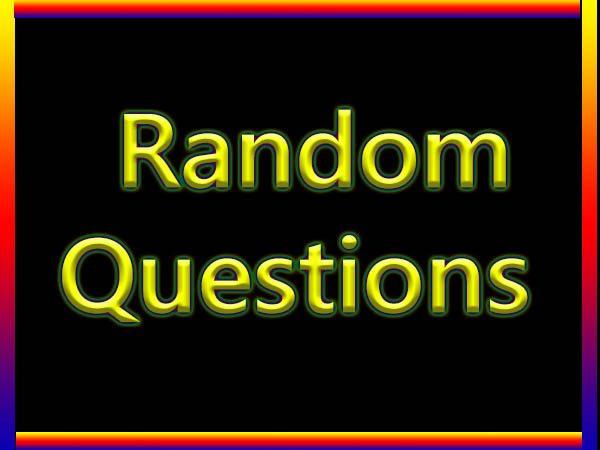 Funny Random Questions