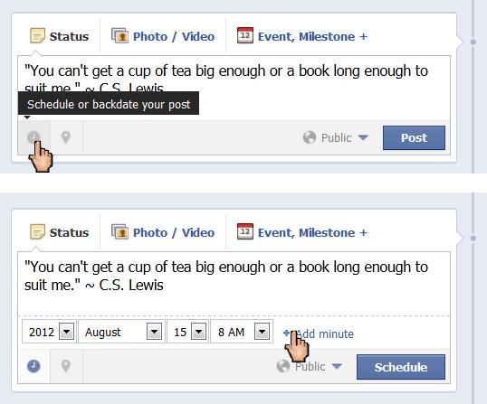 Scheduling Facebook Status Updates