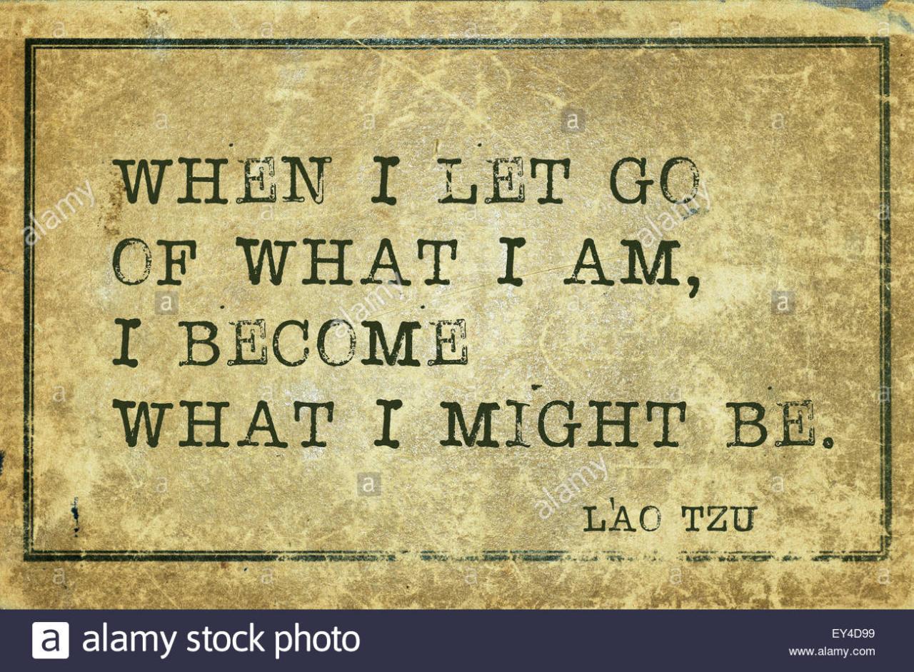Wenn Ich Loslassen Was Ich Bin Antike Chinesische Philosoph Laotse Zitat Auf Grunge Vintage Karton Gedruckt