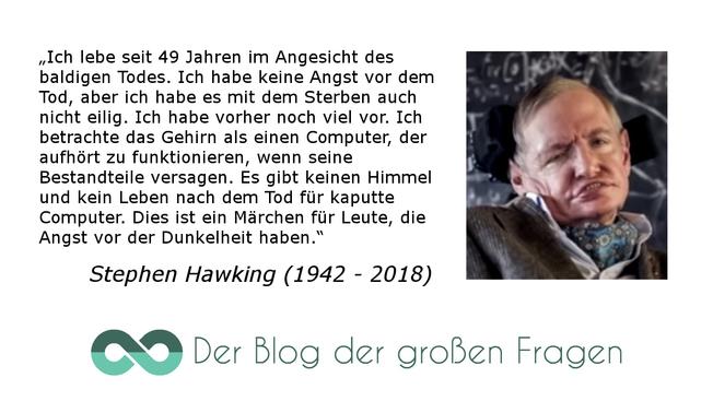 Stephen Hawking Zum Leben Nach Dem Tod