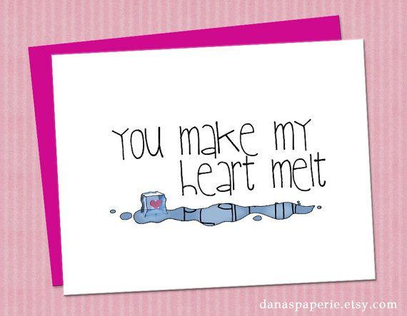 i love you card you make my heart melt card boyfriend card girlfriend