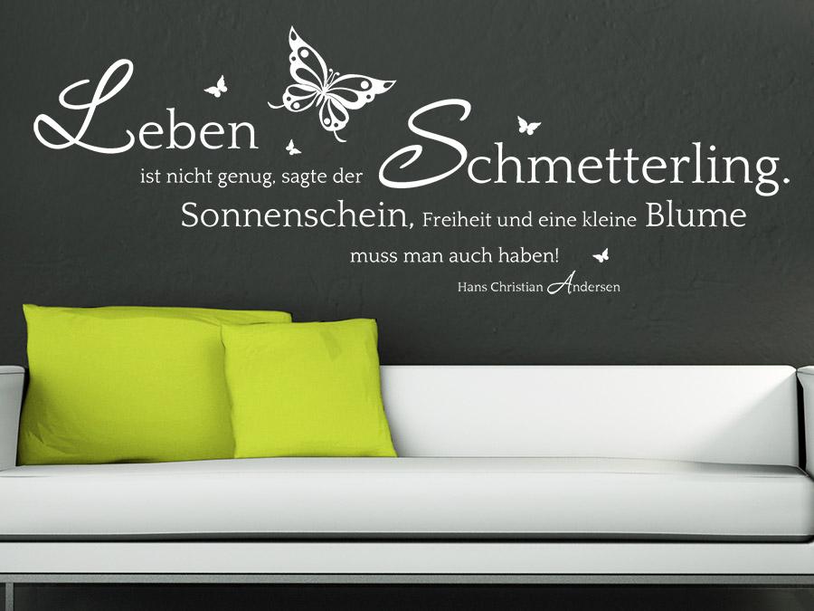 Wandtattoo Der Schmetterling Zitat Von Wandtattoo De