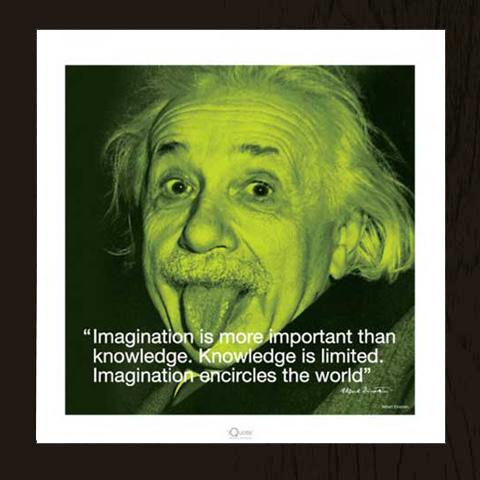 Passend Fur Einstein Albert Poster Wechselrahmen Profil Mm Mdf Schwarz