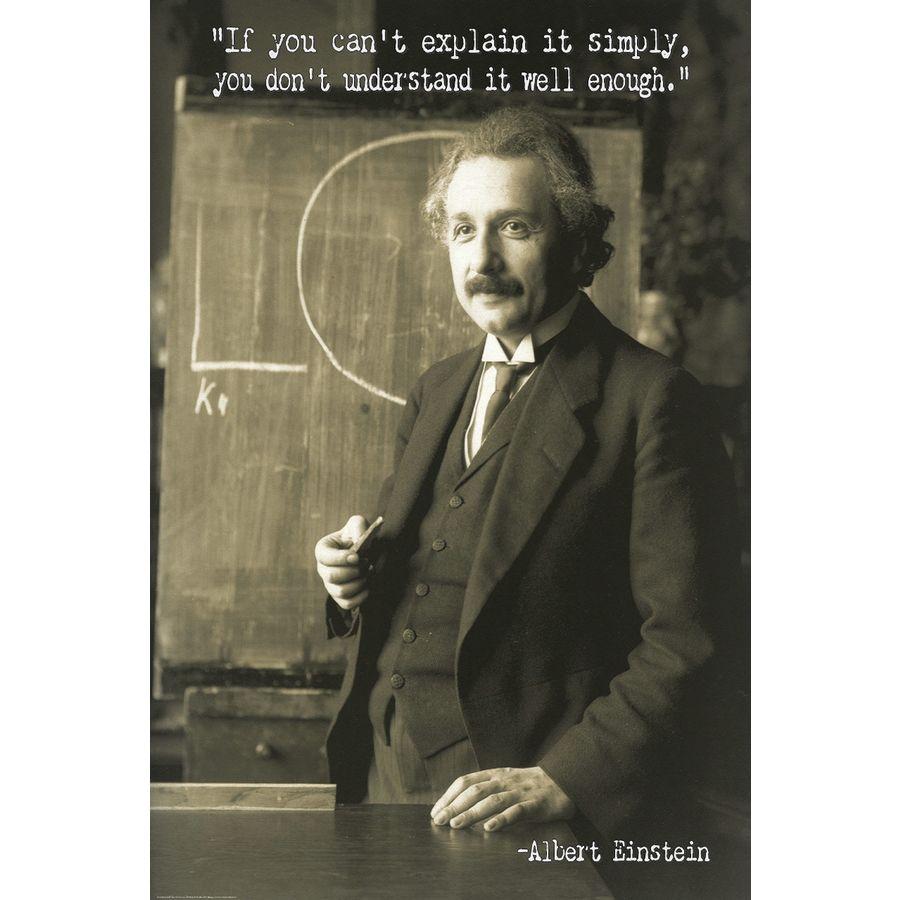 Albert Einstein Poster Zitat
