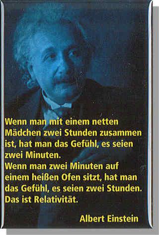 Magnet Einstein Mit Zitat Relativitat