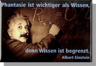 Magnet Einstein Mit Zitat Phantasie