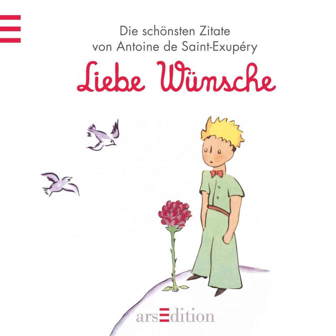 Liebe Wunsche Der Kleine Prinz Schonsten Zitate Von Antoine De Saint Exupery Kleiner Prinz Minibucher Amazon De Antoine De Saint Exupery Bucher