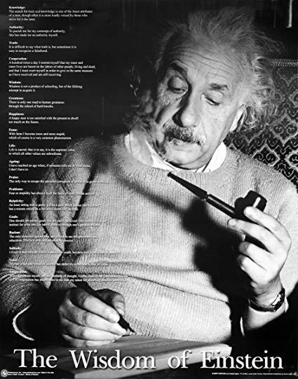 Close Up Albert Einstein Poster The Wisdom Of Einstein Quot