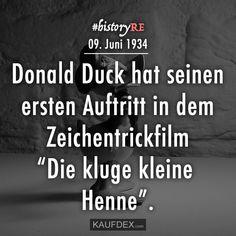 Donald Duck Hat Seinen Ersten Auftritt In Dem Zeichentrickfilm Kluge Kleine Henne