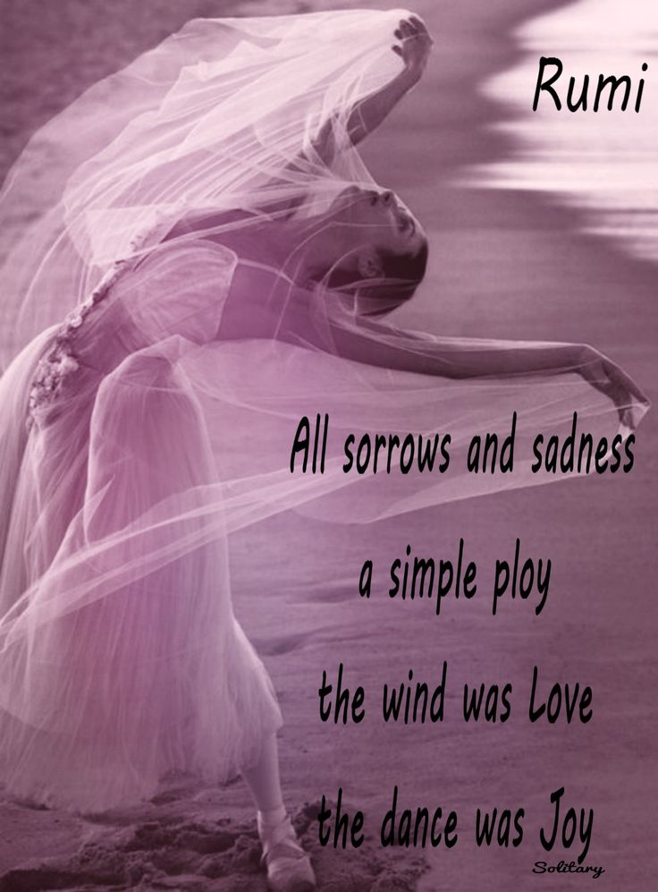 Alle Sorgen Und Trauer Ein Einfacher Trick Der Wind War Liebe Der Tanz War Freude Rumi  E D A All Sorrows And Sadness A Simple Ploy The Wind Was Love The