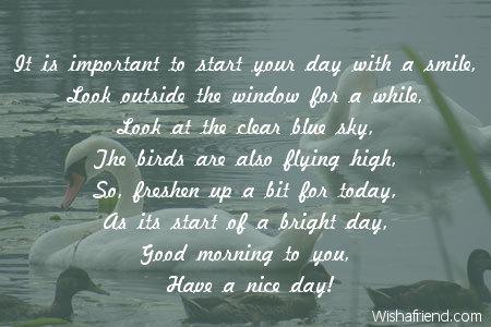 Good morning poems for crush