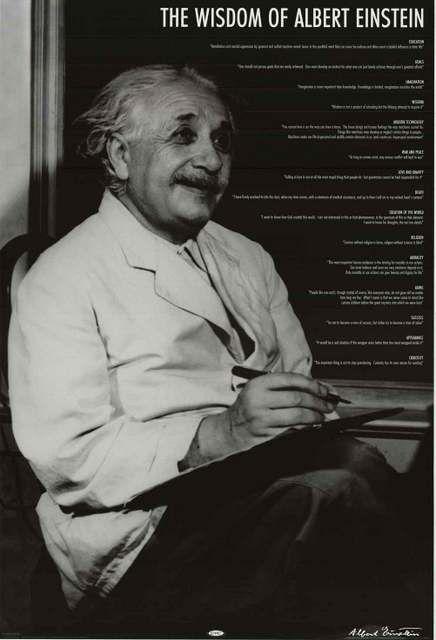 Albert Einstein  Wisdom Quotes Poster X