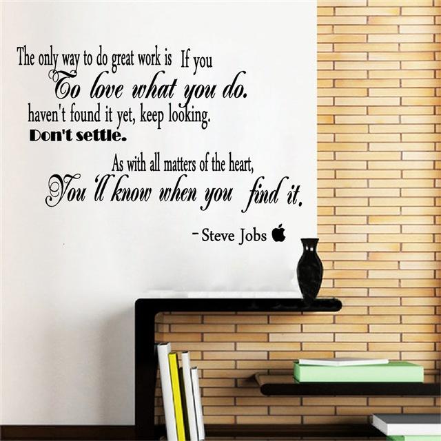 Beruhmte Zitate Durch Steve Jobs Vinyl Wandaufkleber Removable Inspirierende Wandtattoos Fur Buro Stu Wohnzimmer