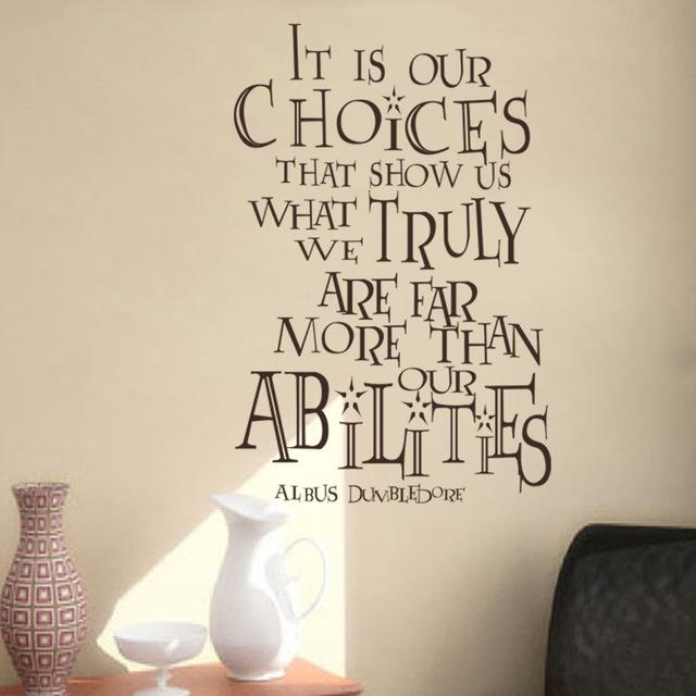 Es Ist Unsere Moglichkeiten Zeigen Uns Harry Potter Albus Dumbledore Zitate