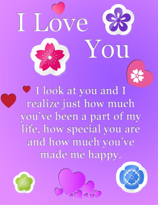 I Love You Greeting Card Images
