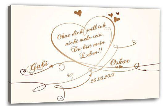 Ein Plakat Zur Hochzeit Liebesspruch Auf Leinwand