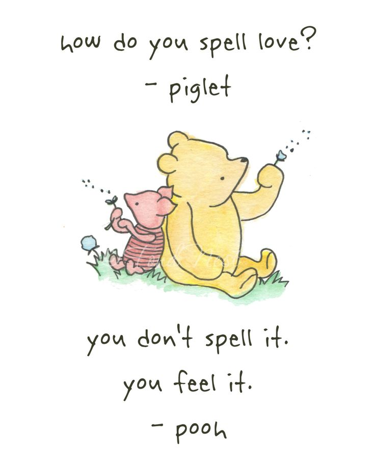 Winnie The Pooh And Piglet Quote Wall Watercolor Painting Art Print Nursery Baby Boy Girl