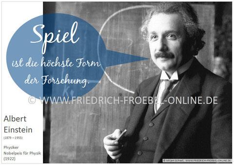 Albert Einstein Poster Zitat Zum Spiel
