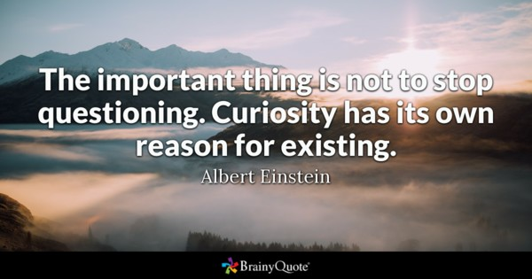 The Important Thing Is Not To Stop Questioning Curiosity Has Its Own Reason For Existing