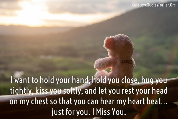 Cute I Miss You Love Quotes