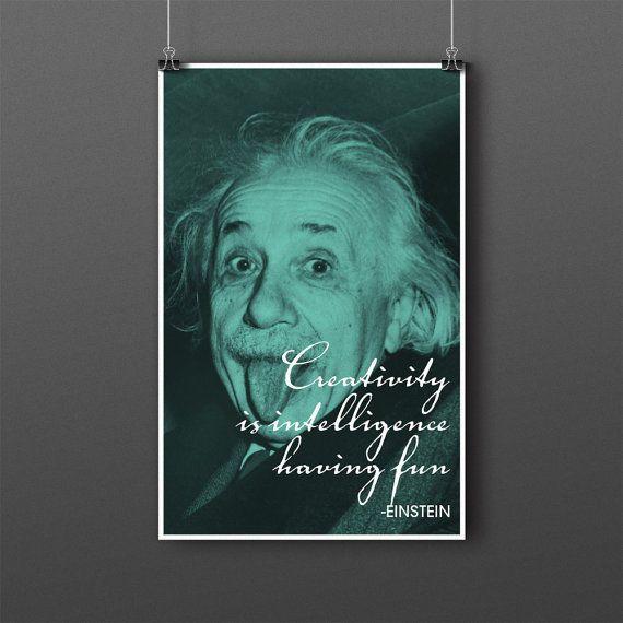 Albert Einstein Quote Poster By Doodlerdan On Etsy