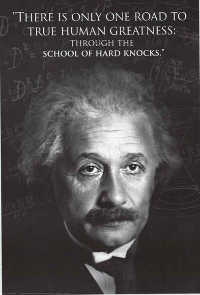 A Great Albert Einstein Quote Poster To Show You The Way To Greatness Through The