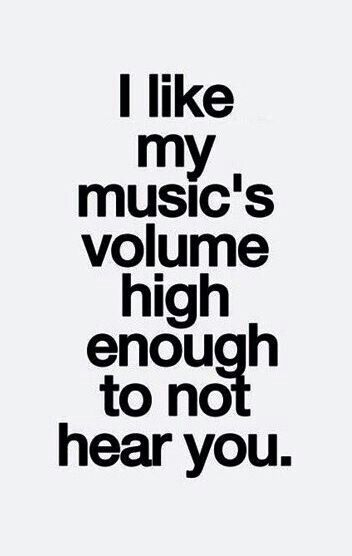 Which Is Why I Seem To Ignore People If They Shout Me In The Street I Dont Ignore Them If I See Them Tho Carpe Musicam Pinterest Musik
