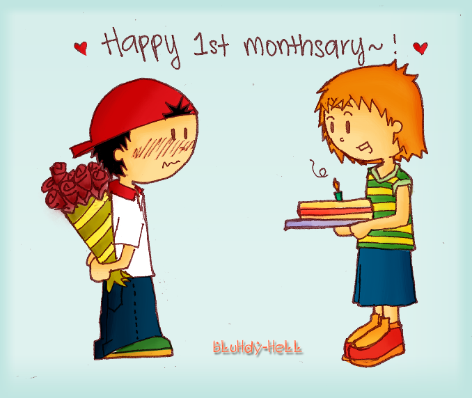 Happy St Monthsary By Bluhdy